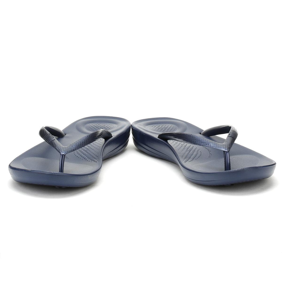 Fitflop-Femme-Sandales-Bleu-Nuit-midnight-navy-iqushion-ergonomique-Tongs-Ete