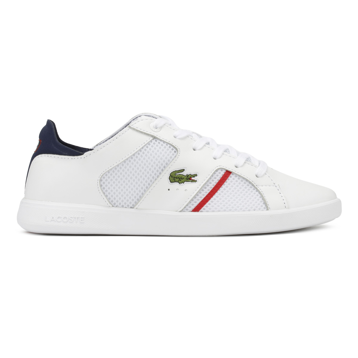 Lacoste hommes Trainers & blanc & Trainers Navy Novas 218 1 Sport Casual Lace Up Chaussures 169fd3