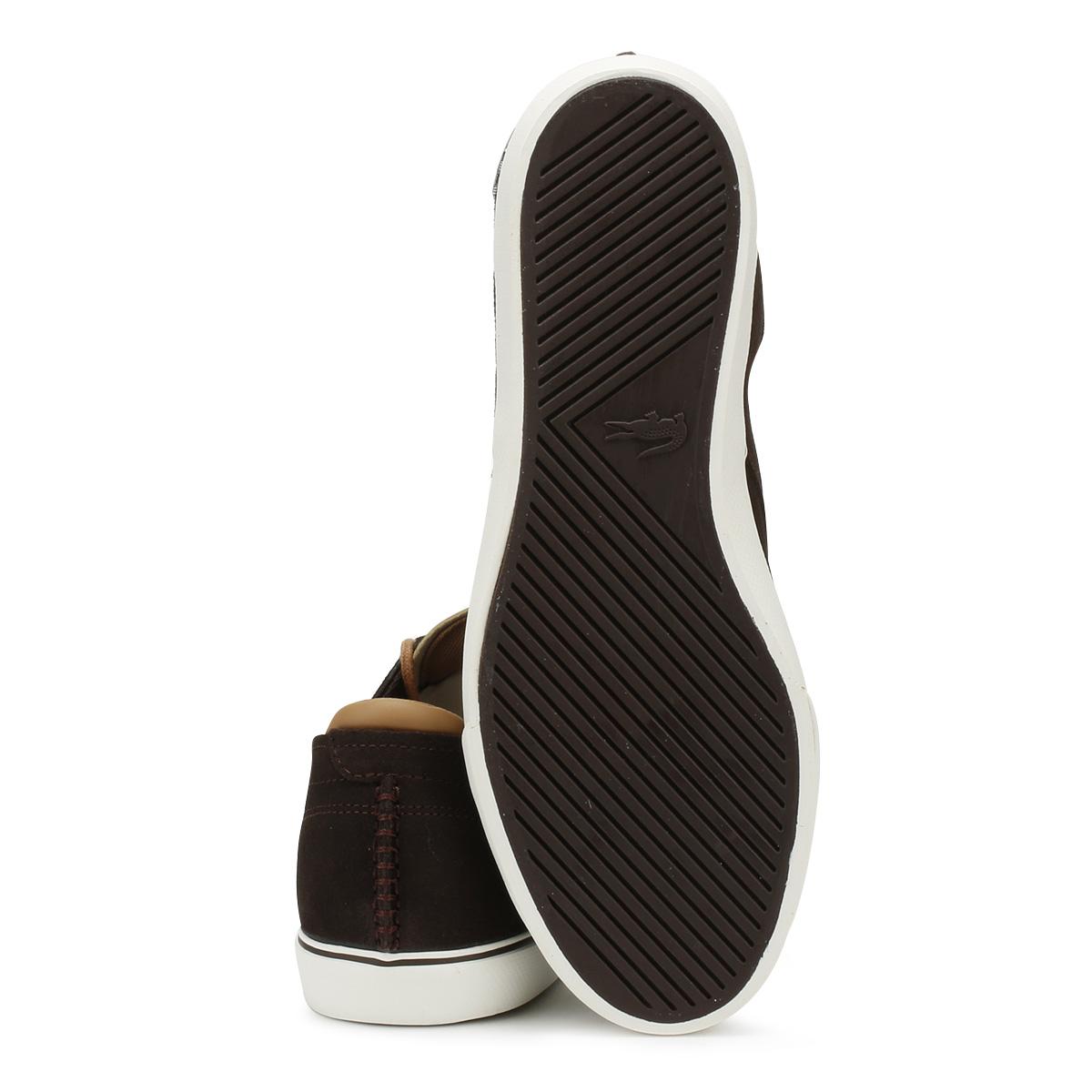 f3592e0bd493d Lacoste Mens Trainers Dark Brown Esparre Deck 118 1 CAM Casual Lace Up Shoes