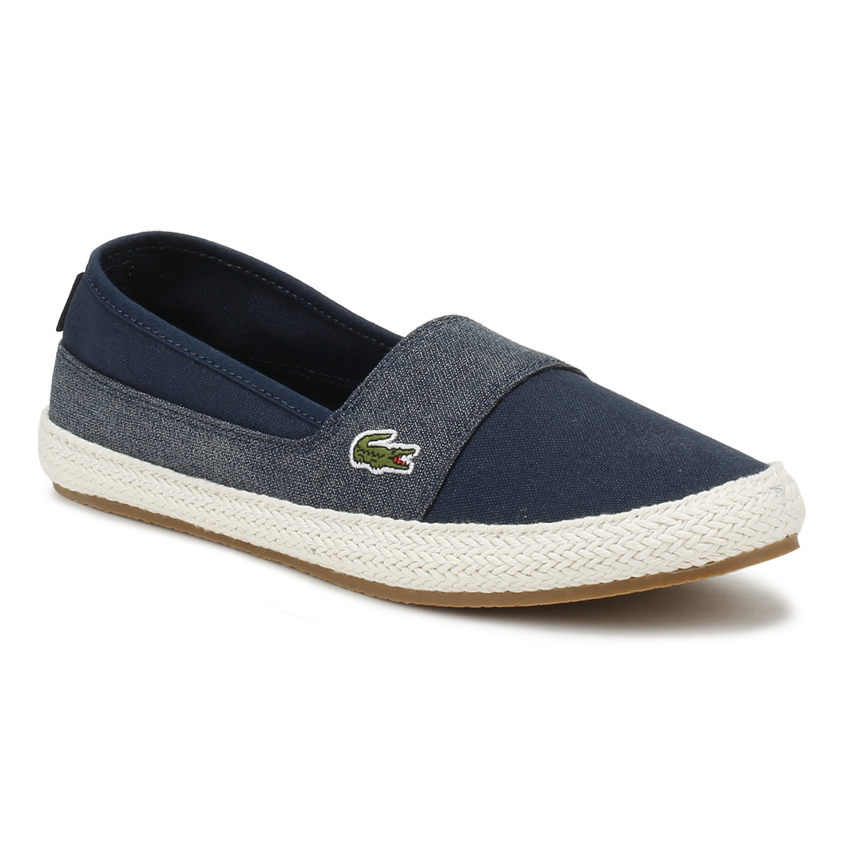 044b35481 Details about Lacoste Womens Flats Navy   Light Blue Marice 218 1  Espadrilles Casual Shoes