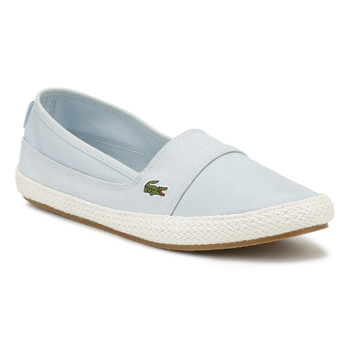 c6ebe59af39 Details about Lacoste Womens Flats Light Blue Marice 218 1 Espadrilles Slip  On Casual Shoes