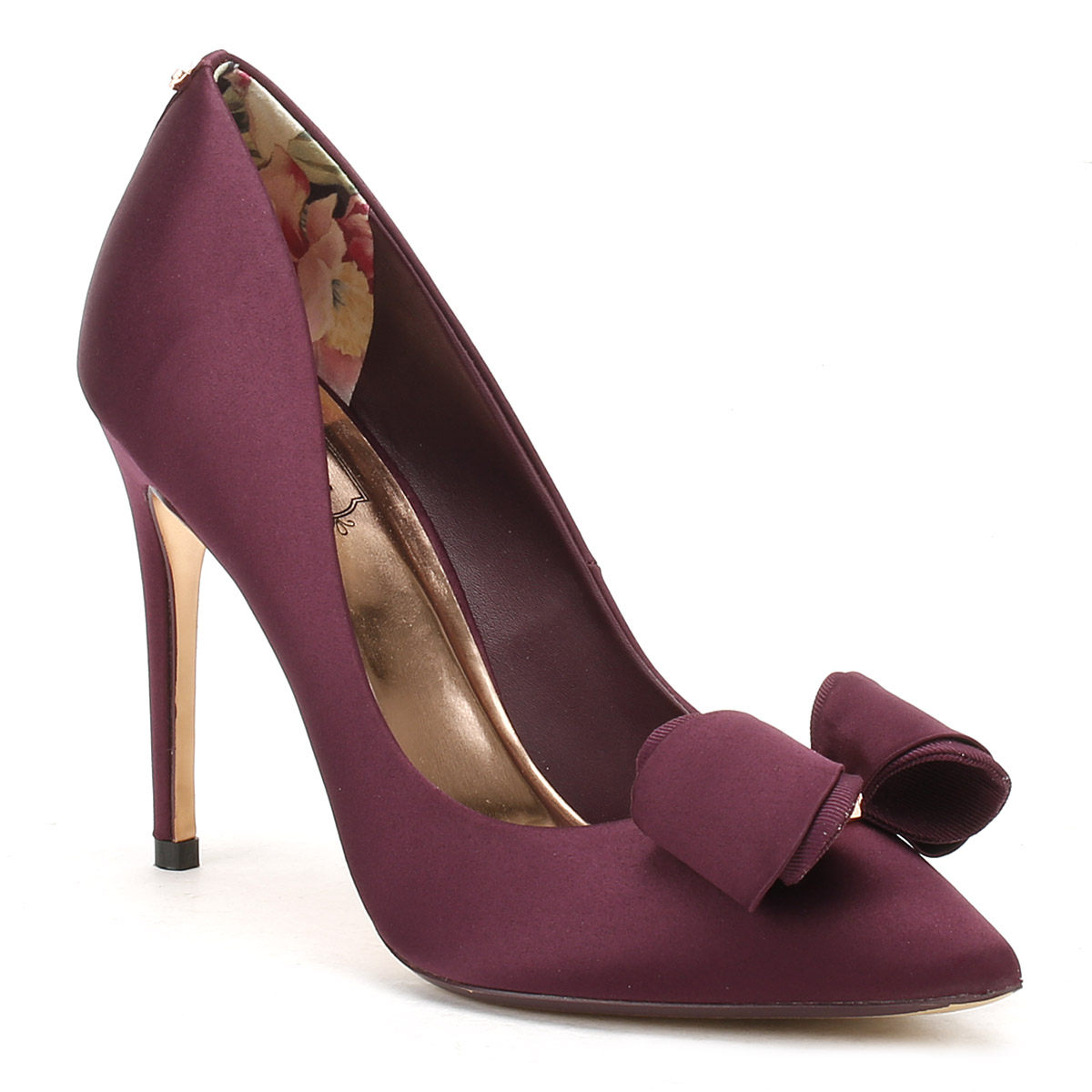 e66cadb506bb80 Details about Ted Baker Womens Purple Textile Azeline High Heels Stiletto  Court Shoes