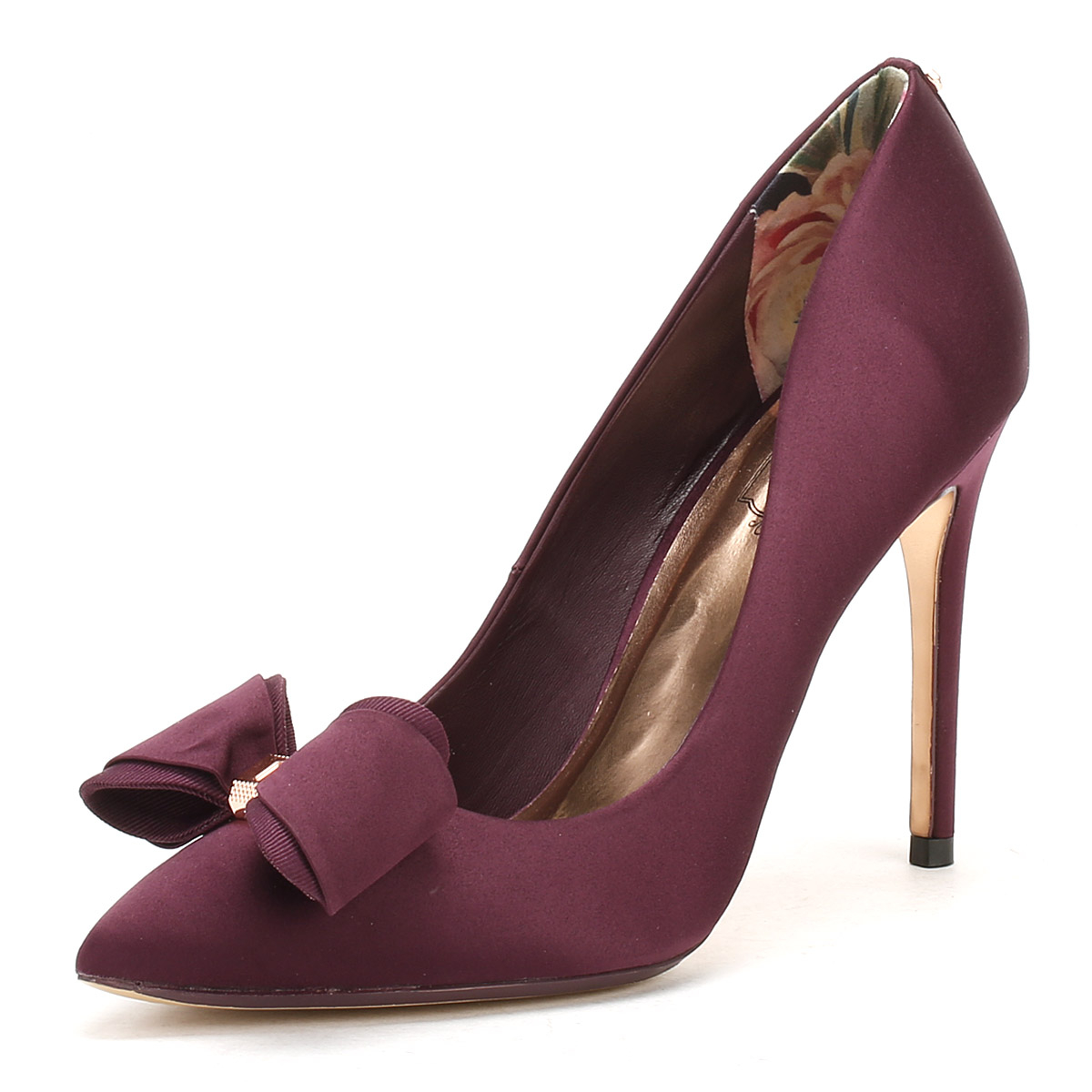 e8ae8274fa1ad8 Ted Baker Womens Purple Textile Azeline High Heels Stiletto Court Shoes