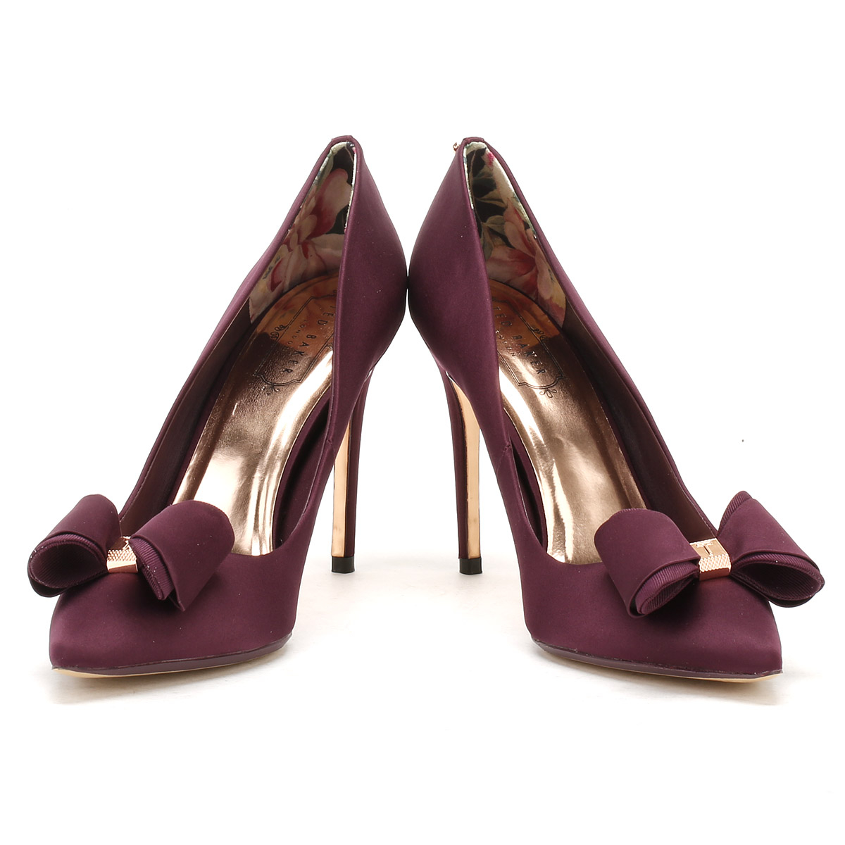 0f272bed6089f Ted Baker Womens Purple Textile Azeline High Heels Stiletto Court ...