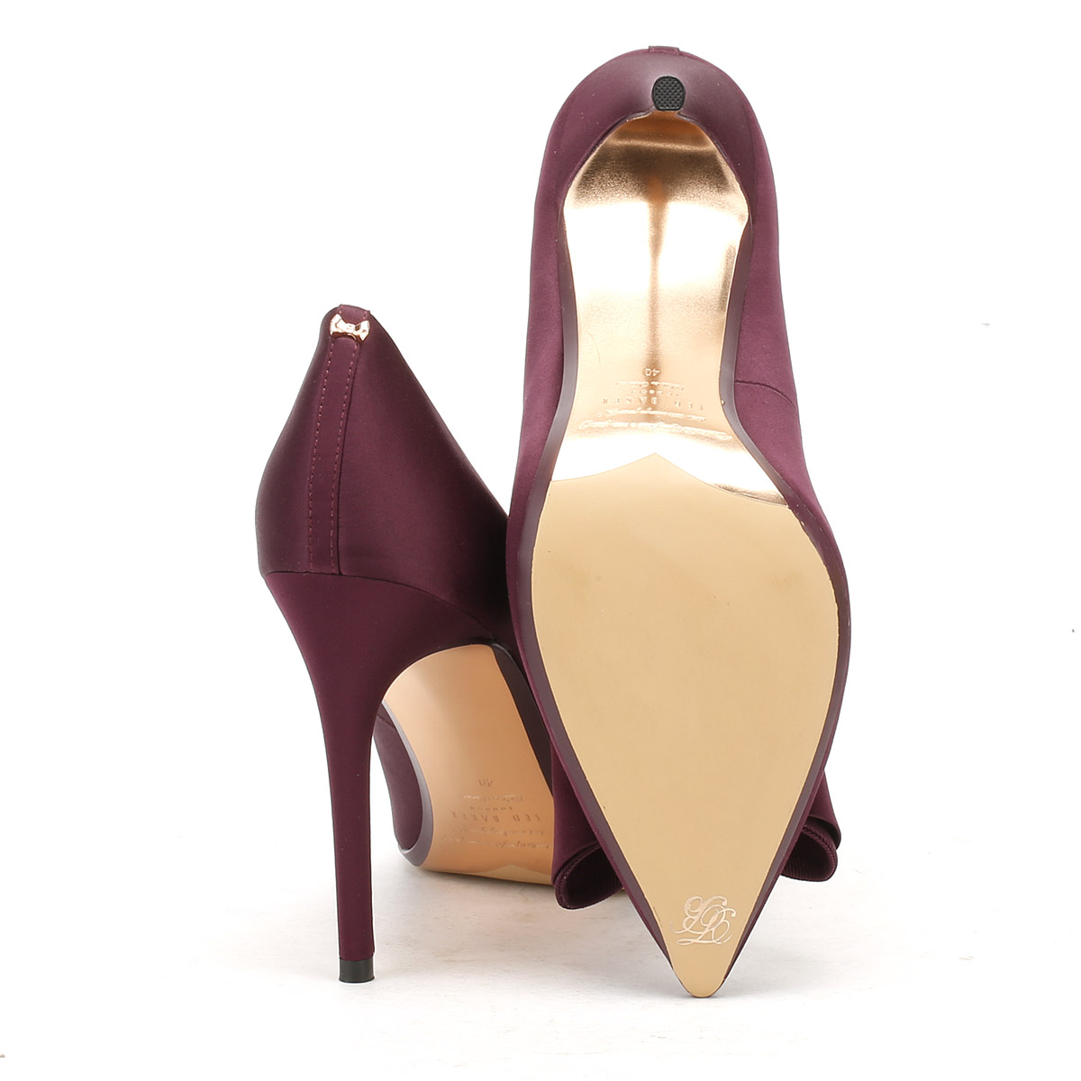 ccd9f42a532d22 Ted Baker Womens Purple Textile Azeline High Heels Stiletto Court Shoes