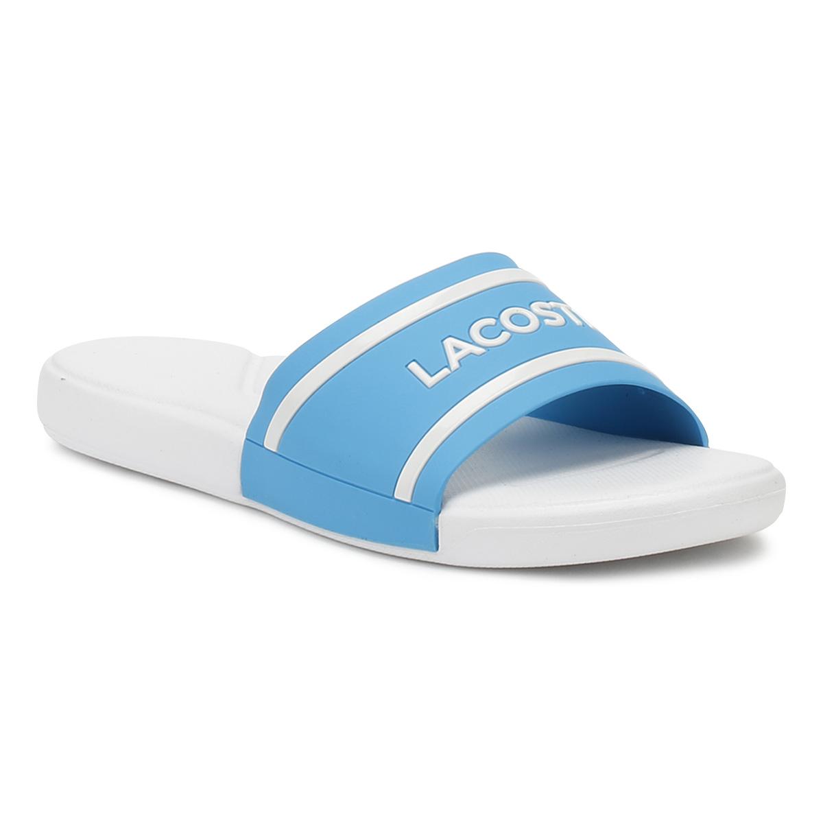 902917cf1 Lacoste Junior Blue   White L.30 118 2 Slides Kids Casual Summer ...