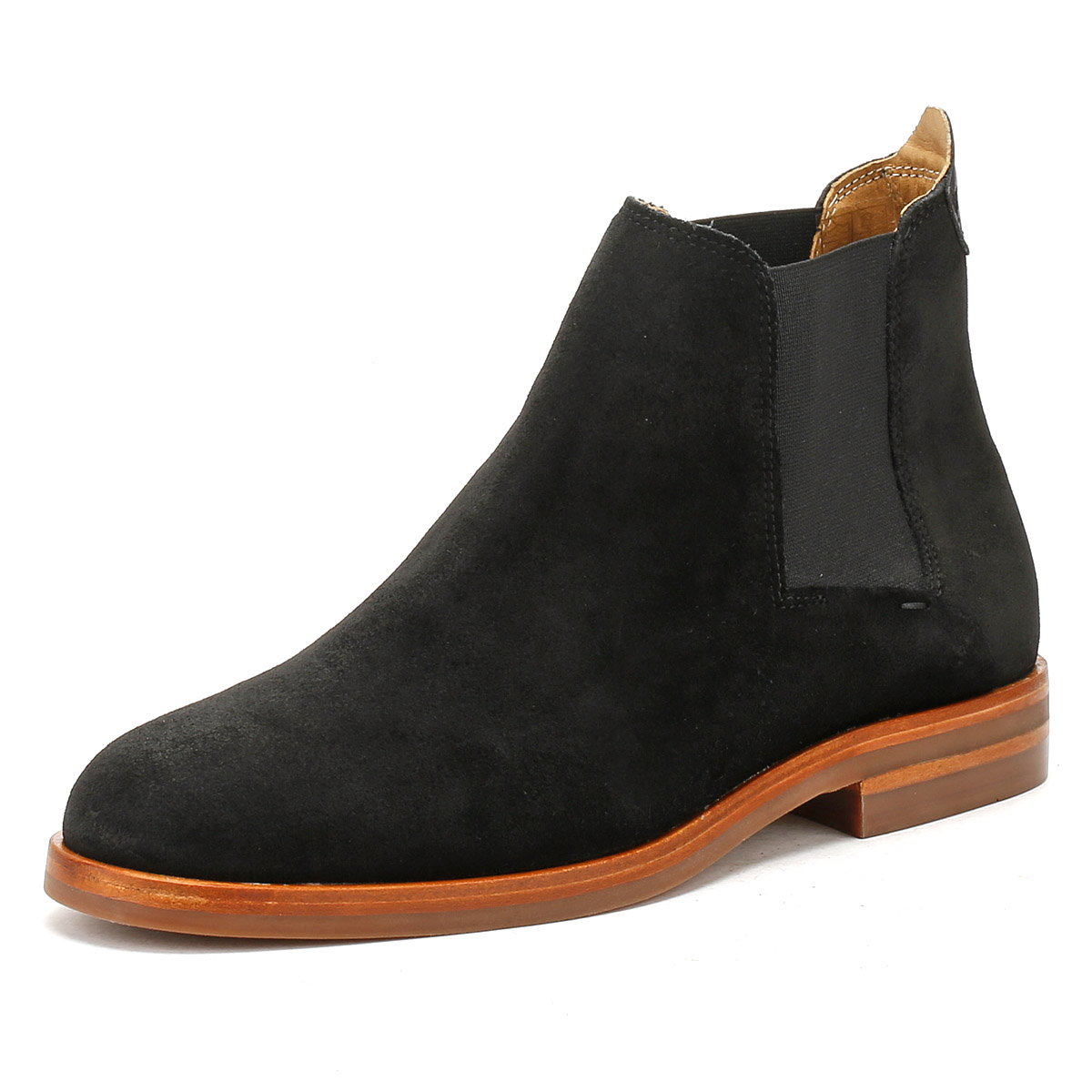 505b08651 Details about Hudson Mens Black Suede Tonti Chelsea Boots Slip On Casual Ankle  Shoes