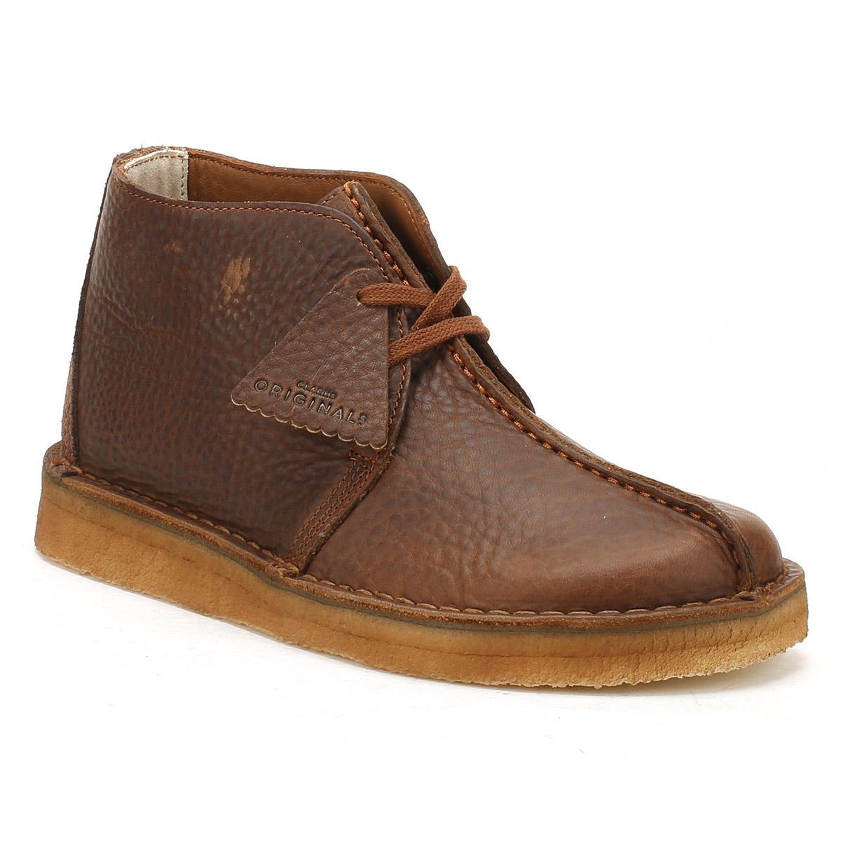 Clarks Mens schwarz or Braun Leder Up Desert Trek Stiefel Lace Up Leder Winter Schuhes 8893fa