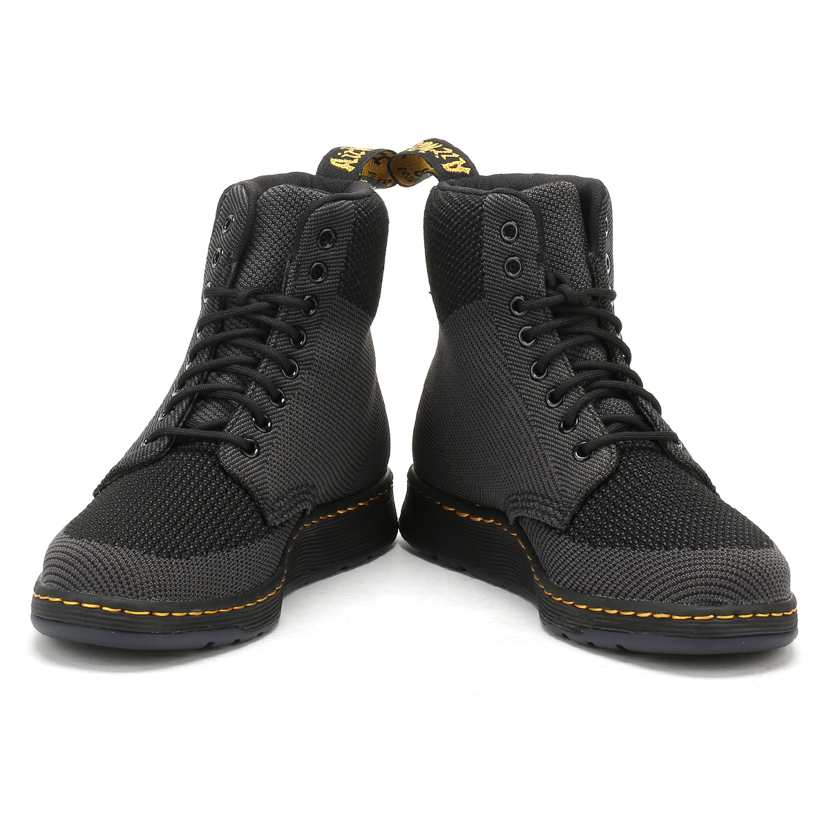 Dr. Dr. Dr. Martens Mens Black or Red Rigal Knit Boots Lace Up Casual Ankle shoes 1aa3f5