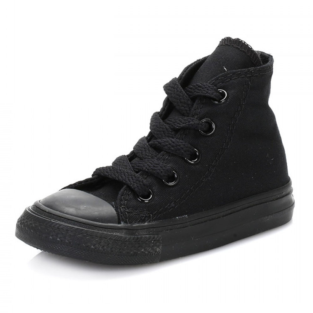 60dba7a15f5fa5 Converse Infants Chuck Taylor All Star Black Trainers Kids Hi Tops Sneakers