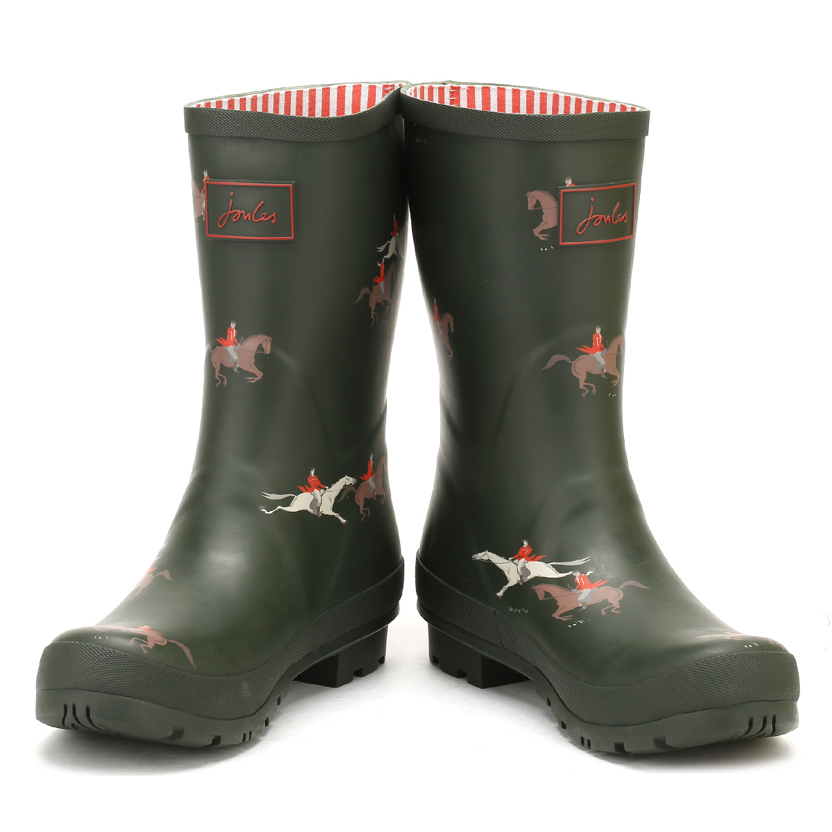 Joules Mujer Botas Wellington Caballo Verde Oliva Molly Goma Impermeable Wellies