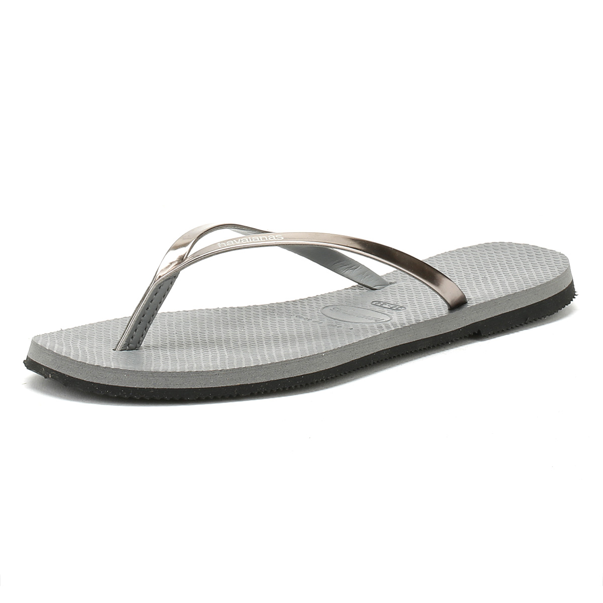 46f39147e Details about Havaianas Womens Sandals Grey You Metallic Flip Flops Summer  Beach Ladies Shoes