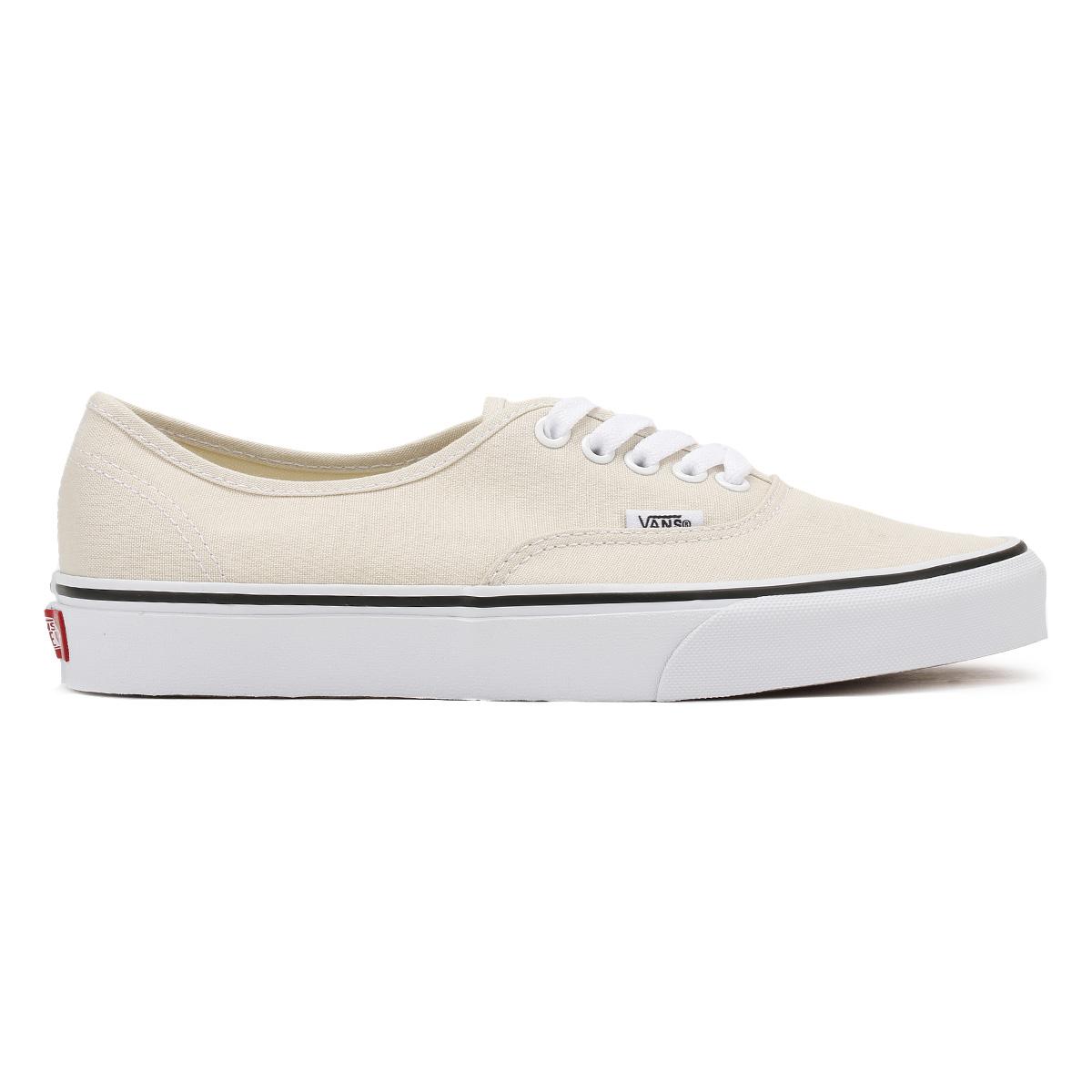 7170ceb052 Vans Unisex Birch Beige Authentic Trainers Lace Up Canvas Ladies Skate Shoes