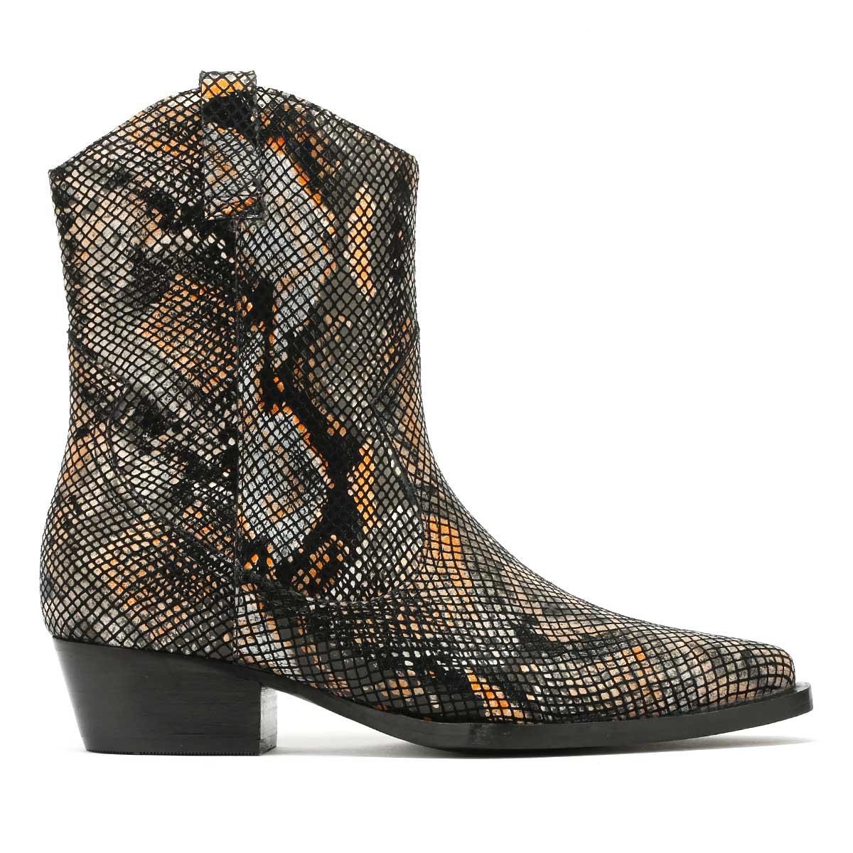 Bronx Jacky Mujer botas Negro caliente Naranja caliente Negro de invierno Informal Zapatos 368476