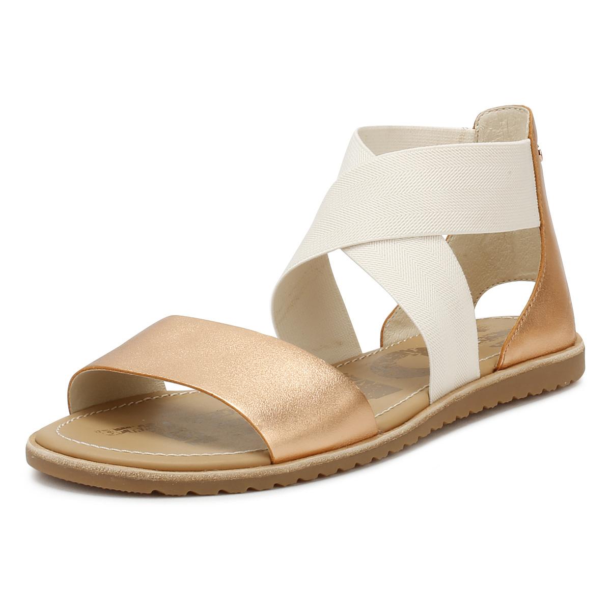 f0c36b98f8137 Details about Sorel Womens Natural Beige Ella Sandals Ladies Summer Beach  Casual Shoes