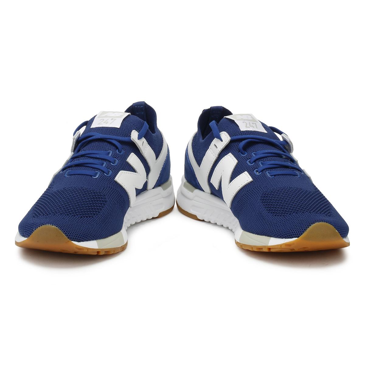 New 247 Hombre Blanca Balance Con Para Y Zapatillas Azul fPfR4r