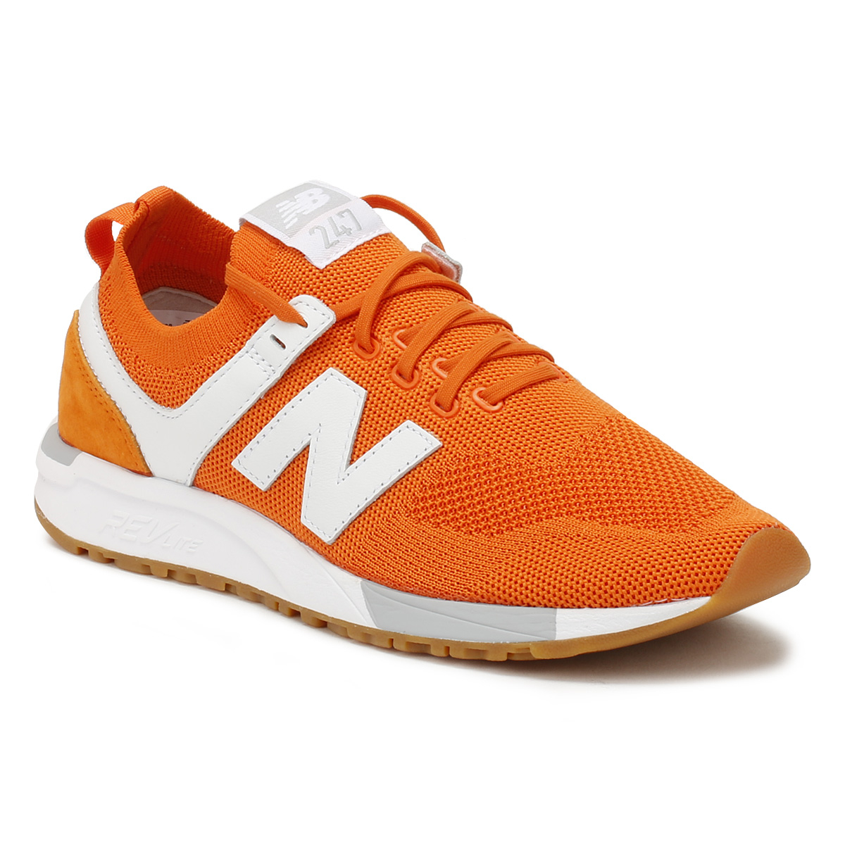 New Balance  Lace Uomo Trainers Orange 247 Lace  Up Sport Casual Running Schuhes 212923