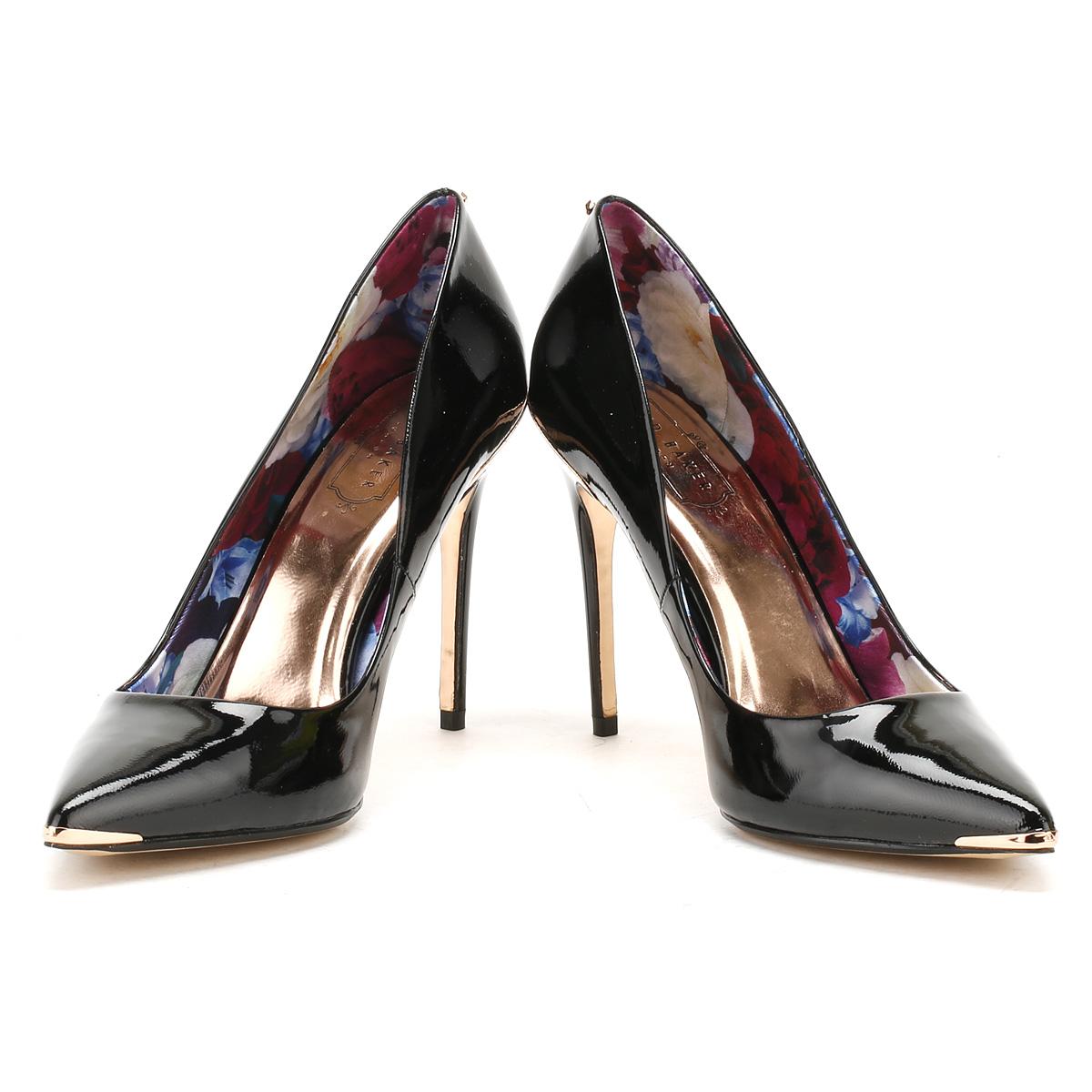Black Patent Leather Court Shoes