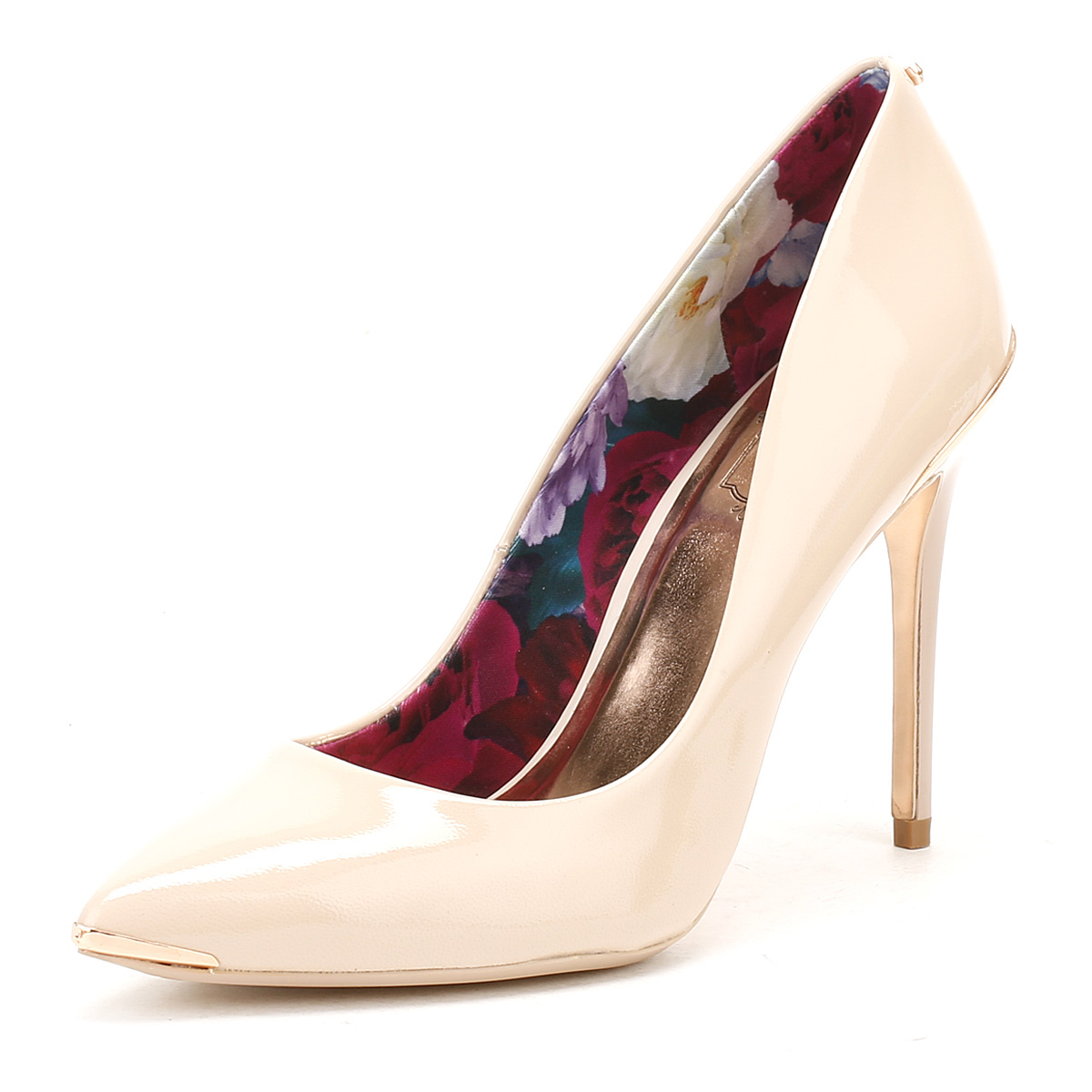 ted baker womens nude patent leather kaawa high heels stiletto court