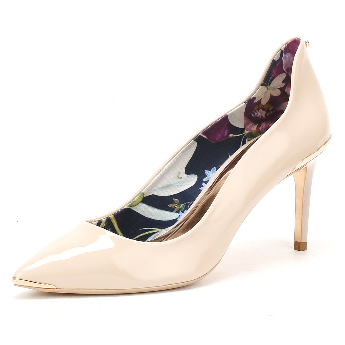 ted baker womens nude patent leather vyixin high heels stiletto