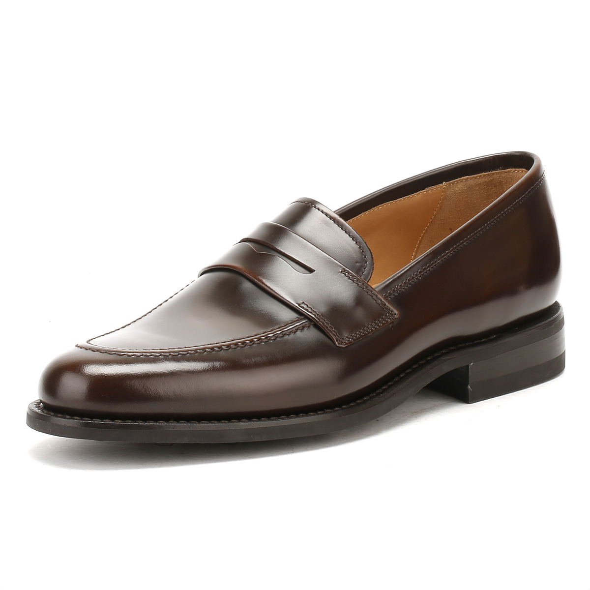 Mens Brown Leather Woven Shoes