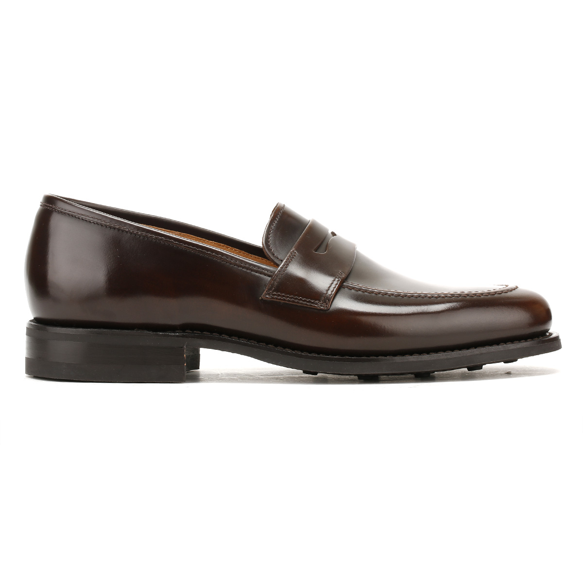 Loake Mens Brown 211 Formal Loafers, Handcrafted Leather