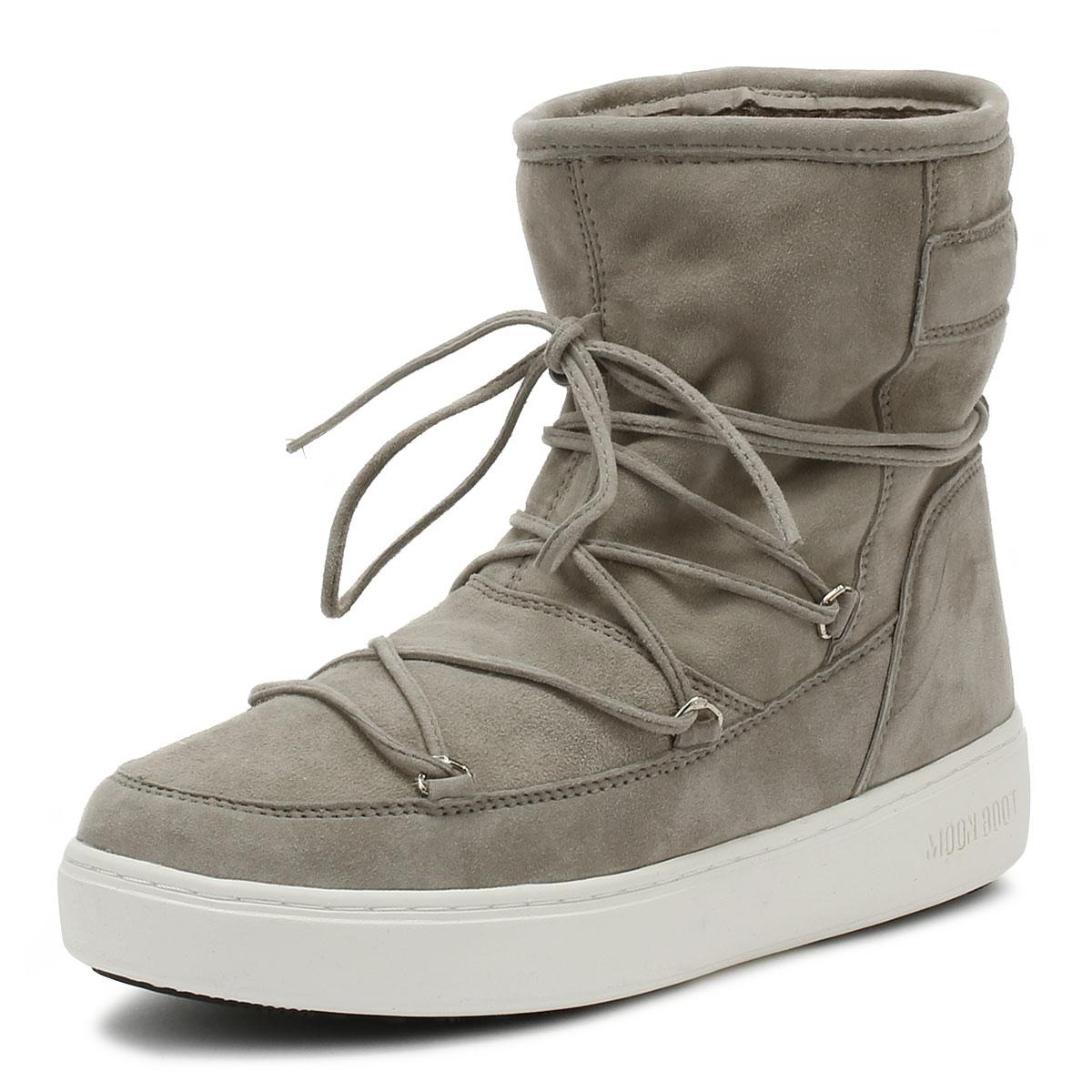 cómodo Moon bota pulso Mid Mid Mid Mujer botas gris Claro Zapatos De Gamuza caliente de invierno señoras  entrega gratis
