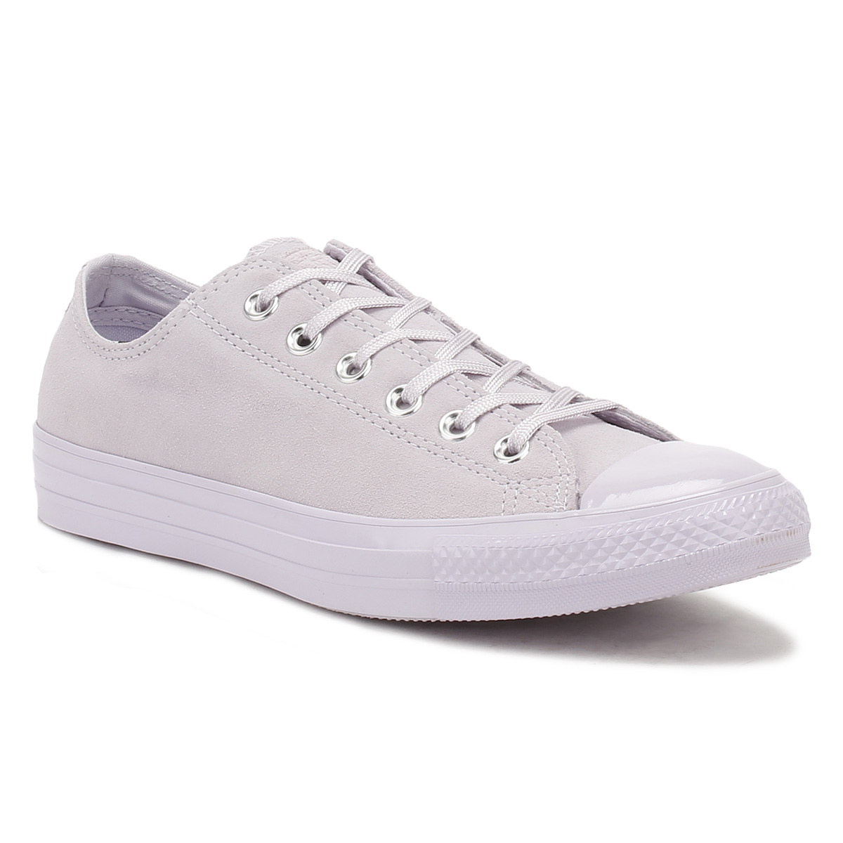 ee1bef302c7df5 The classic Converse low-top has been revamped in a soft plush suede with  tonal laces and metal eyelets. Other features of this pair include pattern  tread ...