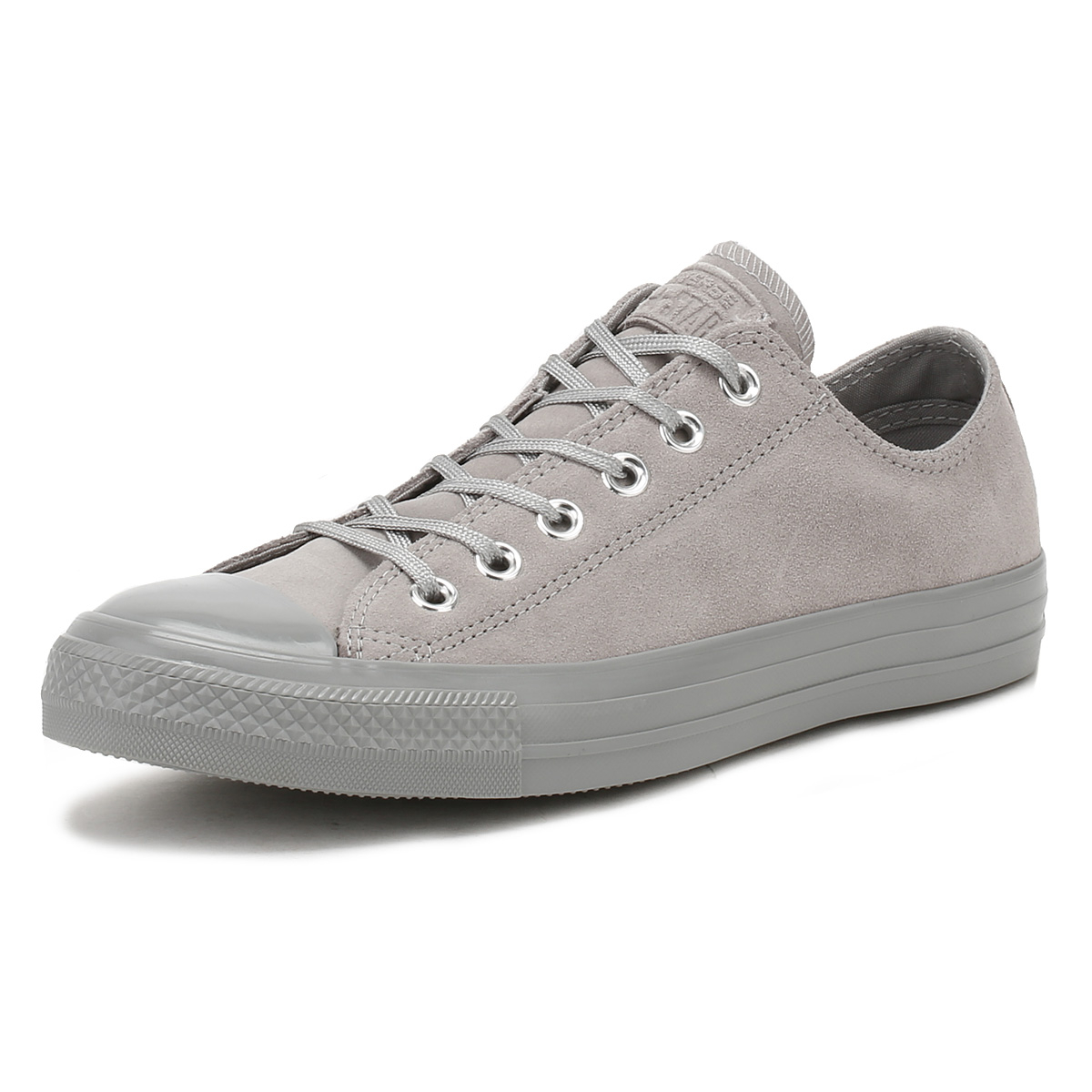 622f90a3a34e7f Details about Converse Chuck Taylor All Star Womens Ox Trainers Dolphin  Grey Suede Sneakers