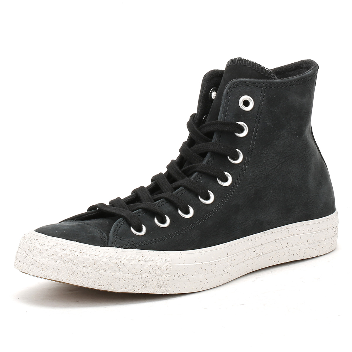 a45eb7933c01 Details about Converse Mens Trainers Chuck Taylor All Star Black Nubuck Hi  Tops Sneakers Shoes