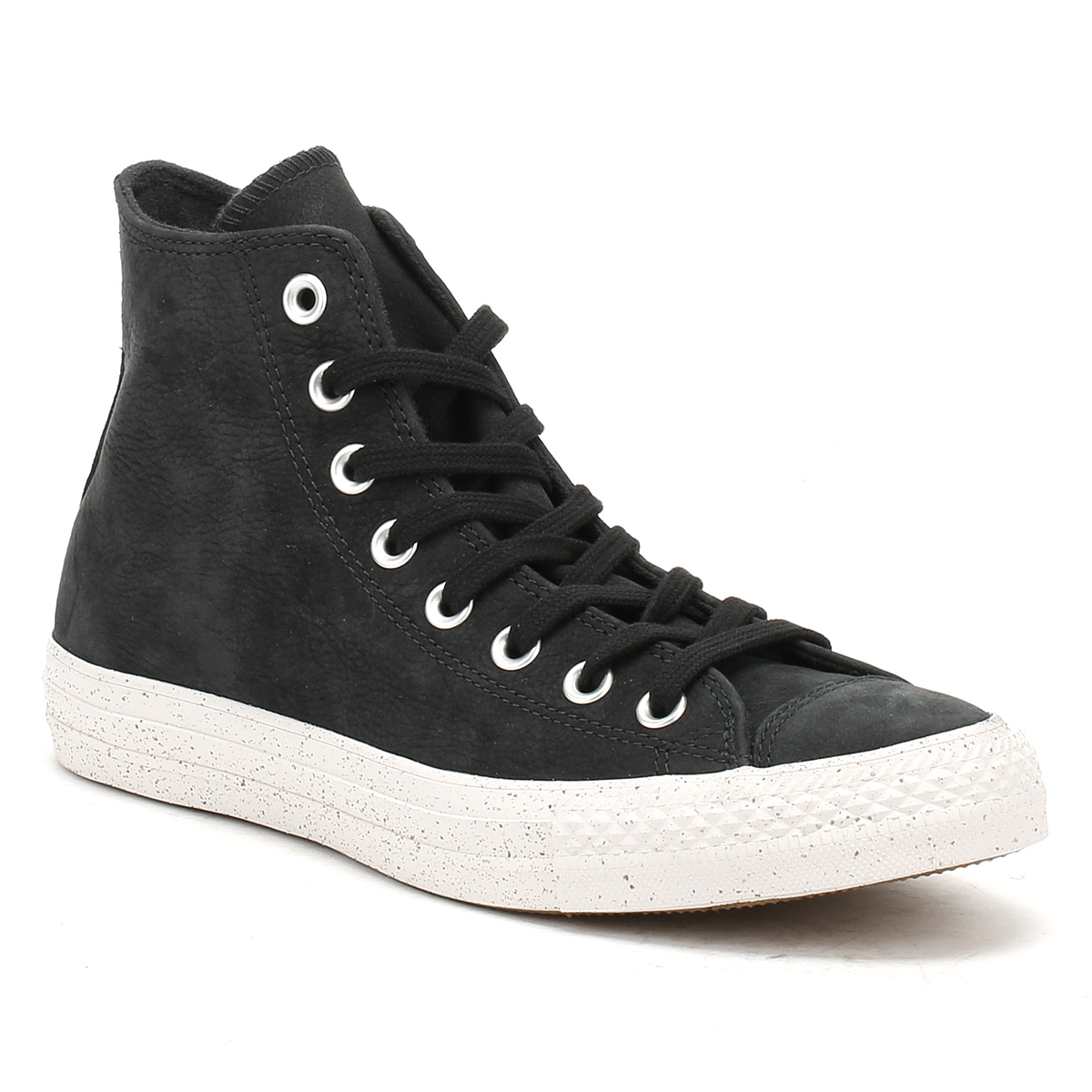 Converse Mens Trainers Chuck Taylor All Star Black Nubuck Hi Tops Sneakers Shoes