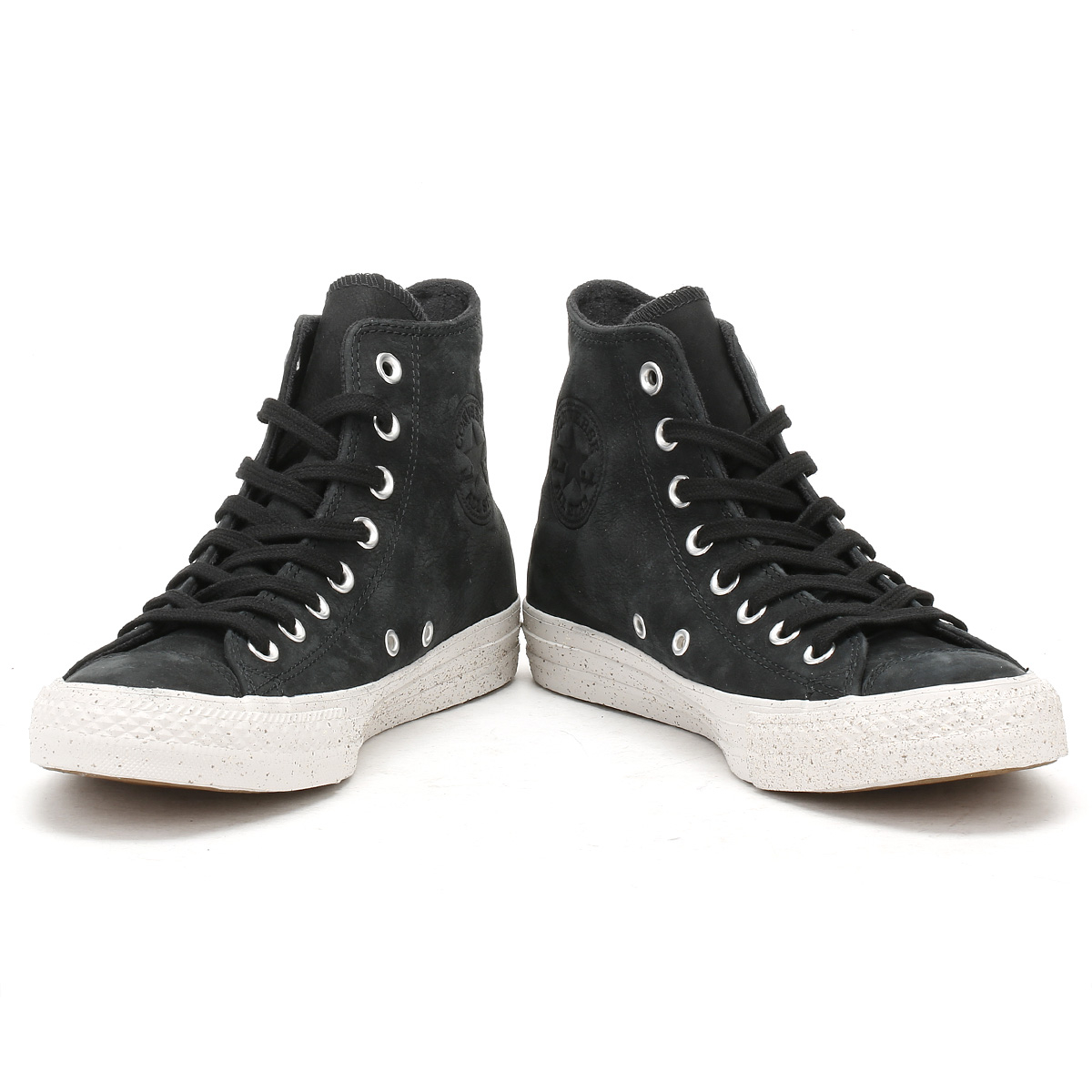 aae9f755291 Converse Mens Trainers Chuck Taylor All Star Black Nubuck Hi Tops Sneakers  Shoes