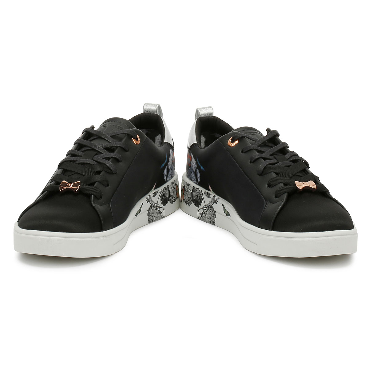6e6a4724d18c Ted Baker Orosa Womens Trainers Black Narnia Satin Sport Casual Shoes