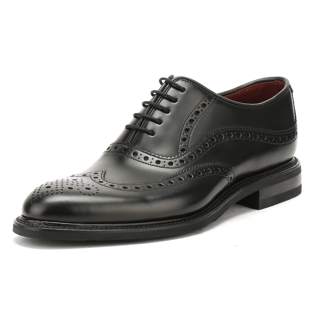 8d8bb3b7 Details about Loake Mens Black Demon Formal Brogue Oxford Shoes,  Handcrafted & Goodyear Welted