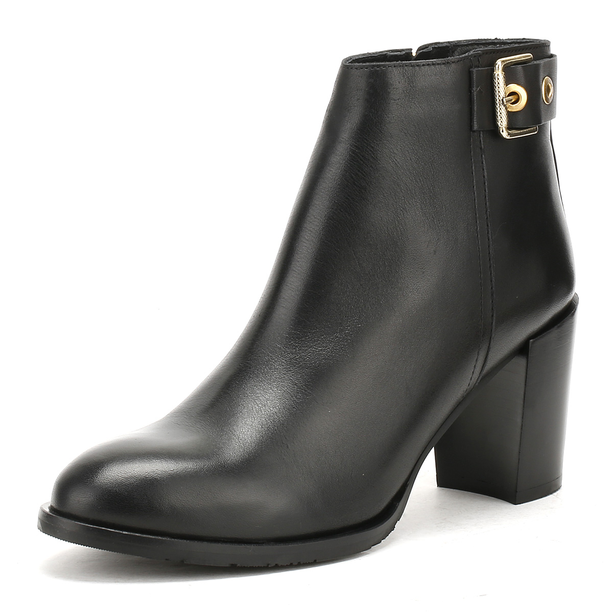 6ce14253413d6 Details about Tommy Hilfiger Womens Black Penelope Ankle Boots High Heel  Zip Up Smart Shoes