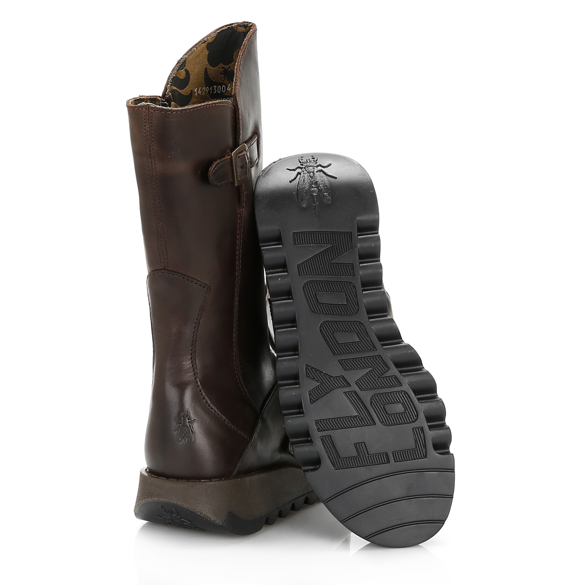 Fly London Womens Dark Brown Brown Brown Mes 2 Rug Boots Leather Winter shoes dc5c9e