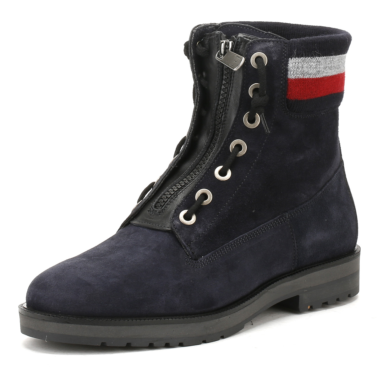 3631d227 Tommy Hilfiger Womens Blue West 9B1 Ankle Boots, Premium Suede ...
