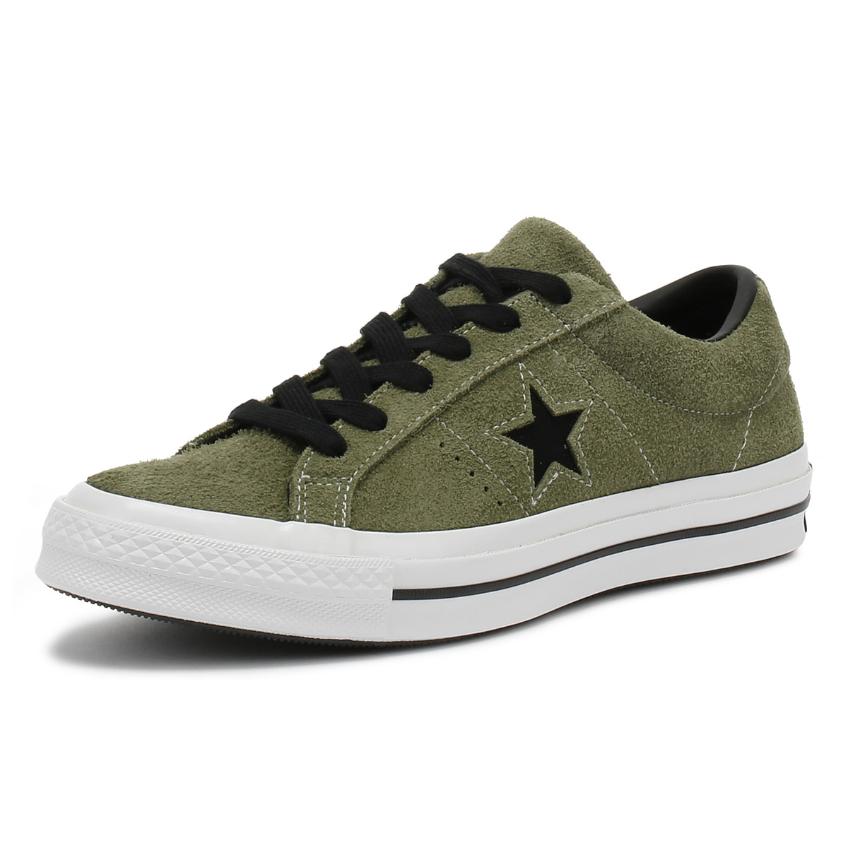 194893fd3b1db7 Converse One Star Ox Mens Trainers Field Surplus Khaki Lace Up Skate ...