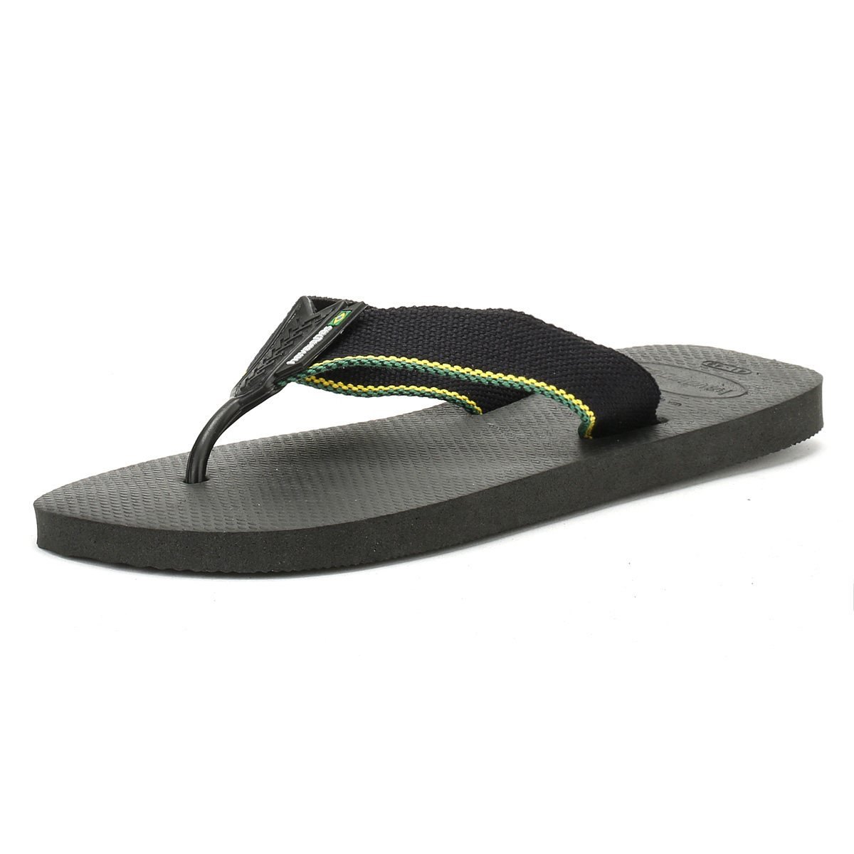 507c936bbf0f Details about Havaianas Mens Black Urban Brasil Flip Flops Beach Summer  Thong Shoes