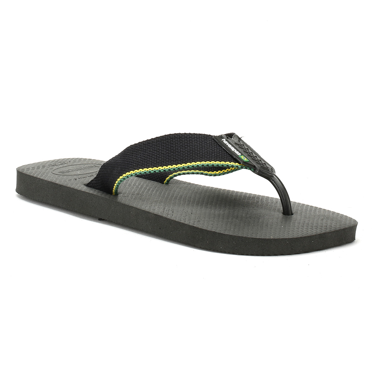 29a8fba9ec23 Havaianas Mens Black Urban Brasil Flip Flops Beach Summer Thong Shoes