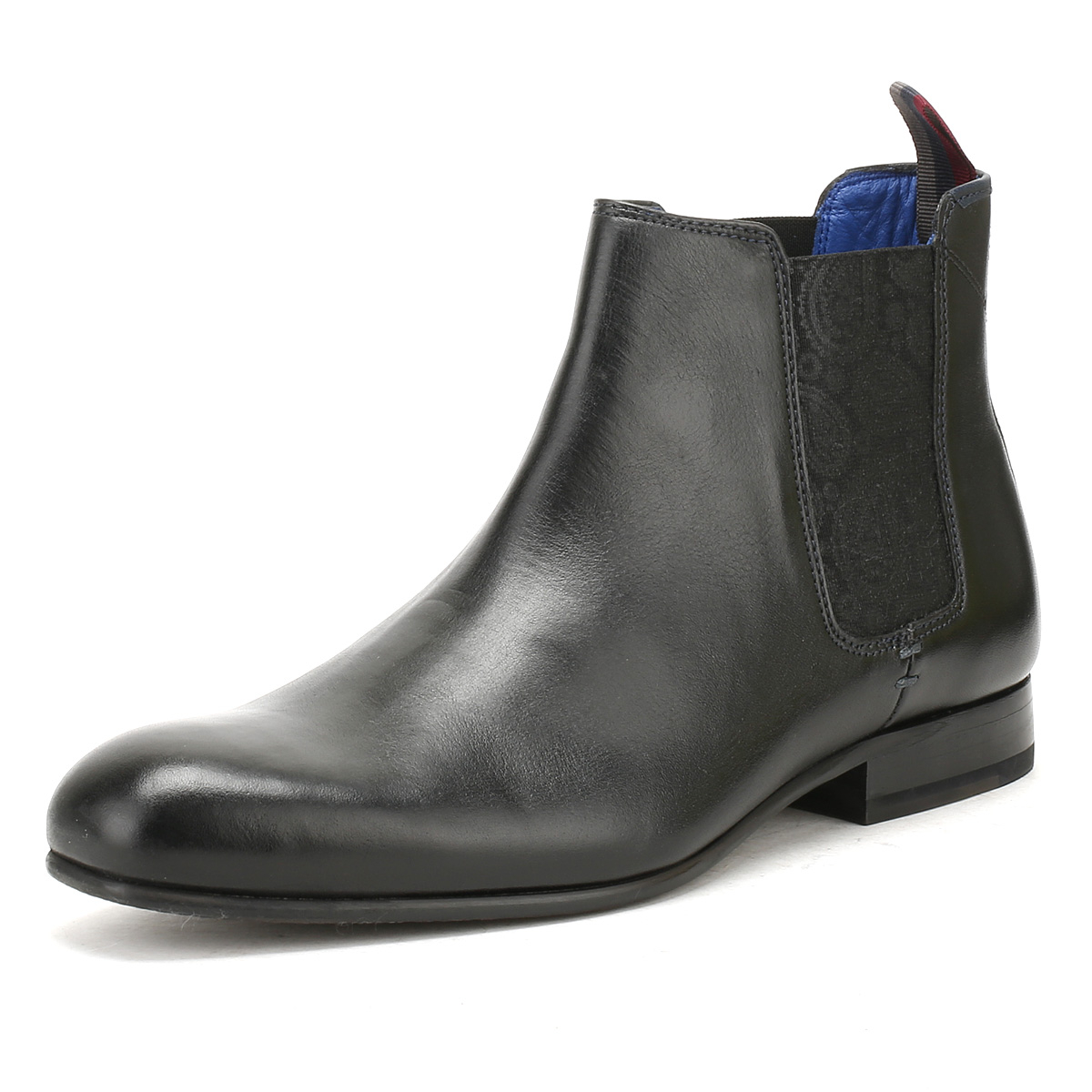 c72a97f51 Details about Ted Baker Mens Black Leather Kayto Chelsea Boots Leather  Winter Ankle Shoes