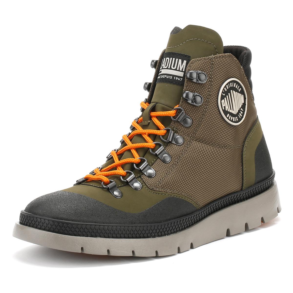 Palladium Mens Pallasider HIKR Mid Hiker Boots Waterproof Winter Ankle Shoes