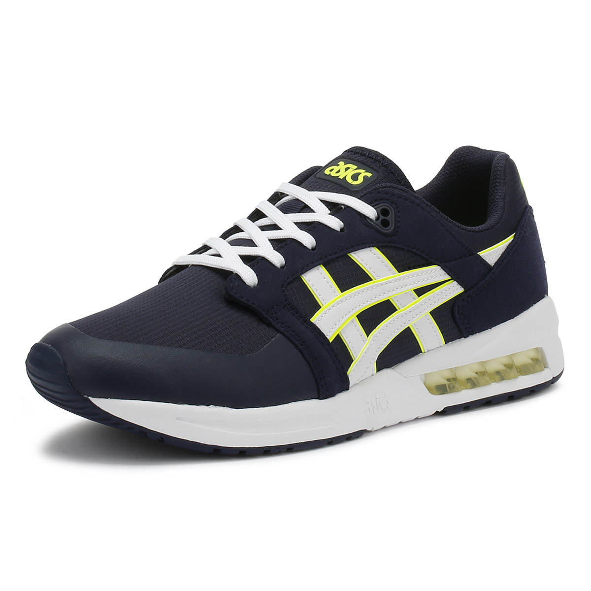 hot sale online 4371b 1b84b Details about ASICS Gel-Saga SOU Mens Midnight & White Trainers Lace Up  Casual Shoes