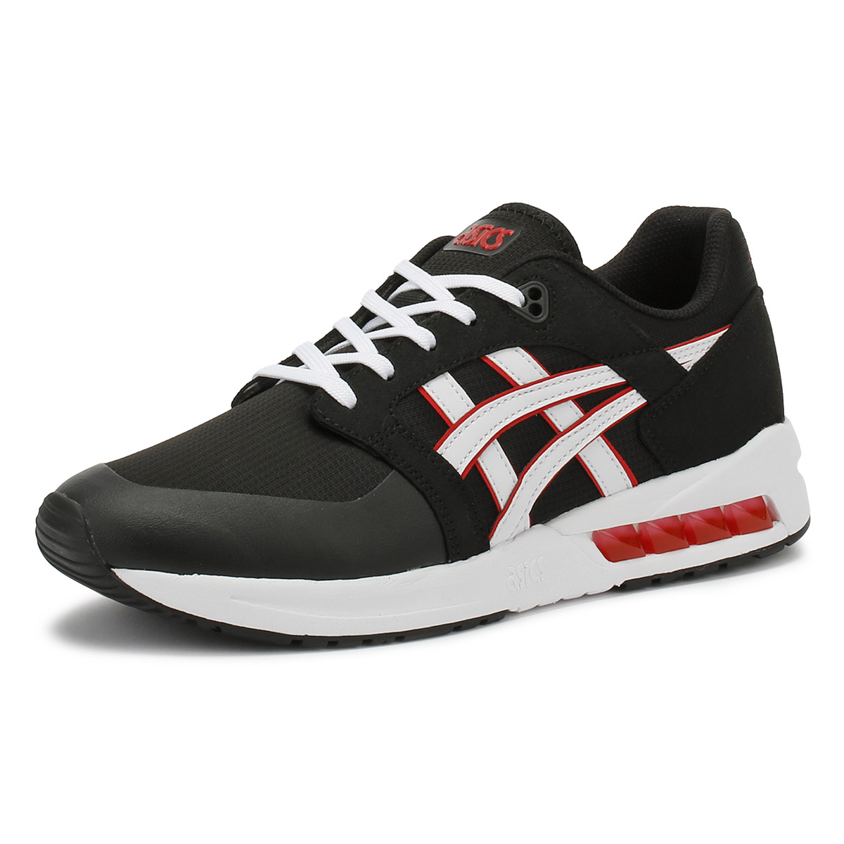 the latest e2449 c4a5a Details about ASICS Gel-Saga SOU Mens Black & White Trainers Lace Up Casual  Shoes