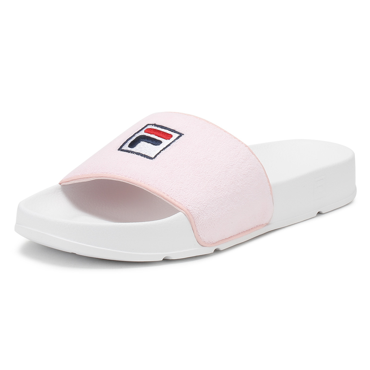 d4eef2b7dcbd Details about Fila Womens Slides Chalk Pink   White Drifter Terry Summer  Beach Sandals