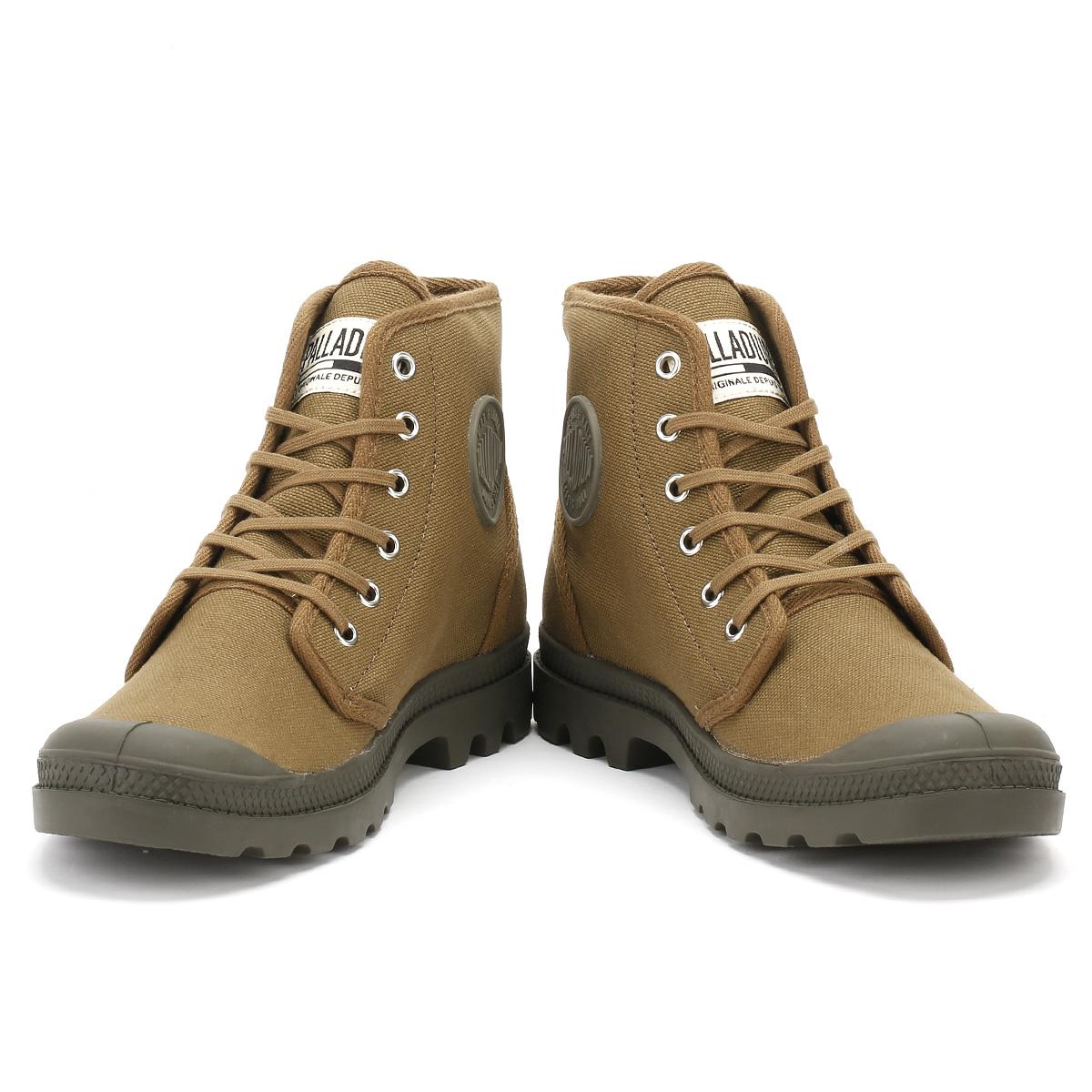 Botas-Palladium-para-hombre-Pampa-Originale-Hi-Zapatos-al-tobillo-con-Cordones-de-Lona-Informal