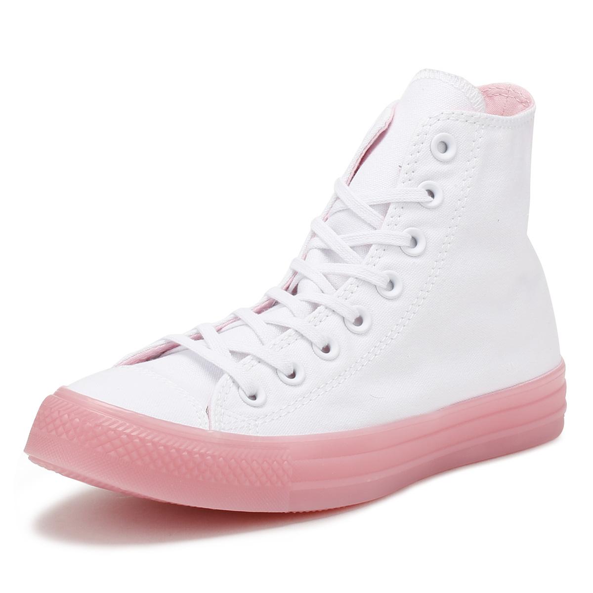 Converse All Star Da Donna Scarpe Da Ginnastica White & Cherry Ciao Signore Skater Scarpe Casual-mostra Il Titolo Originale