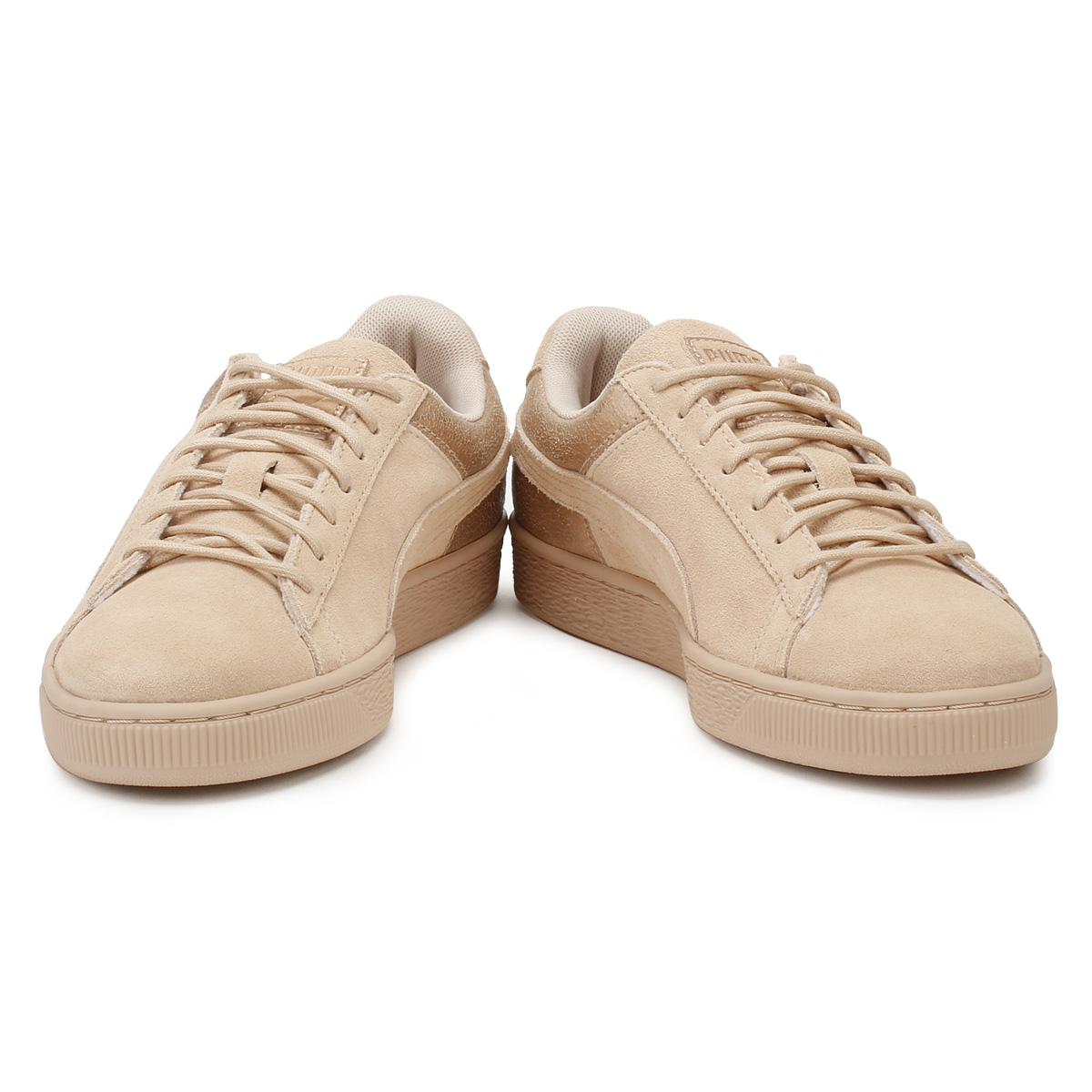 46fe1db0236 PUMA Womens Trainers Cream Tan LunaLux Suede Ladies Lace Up Sport Casual  Shoes