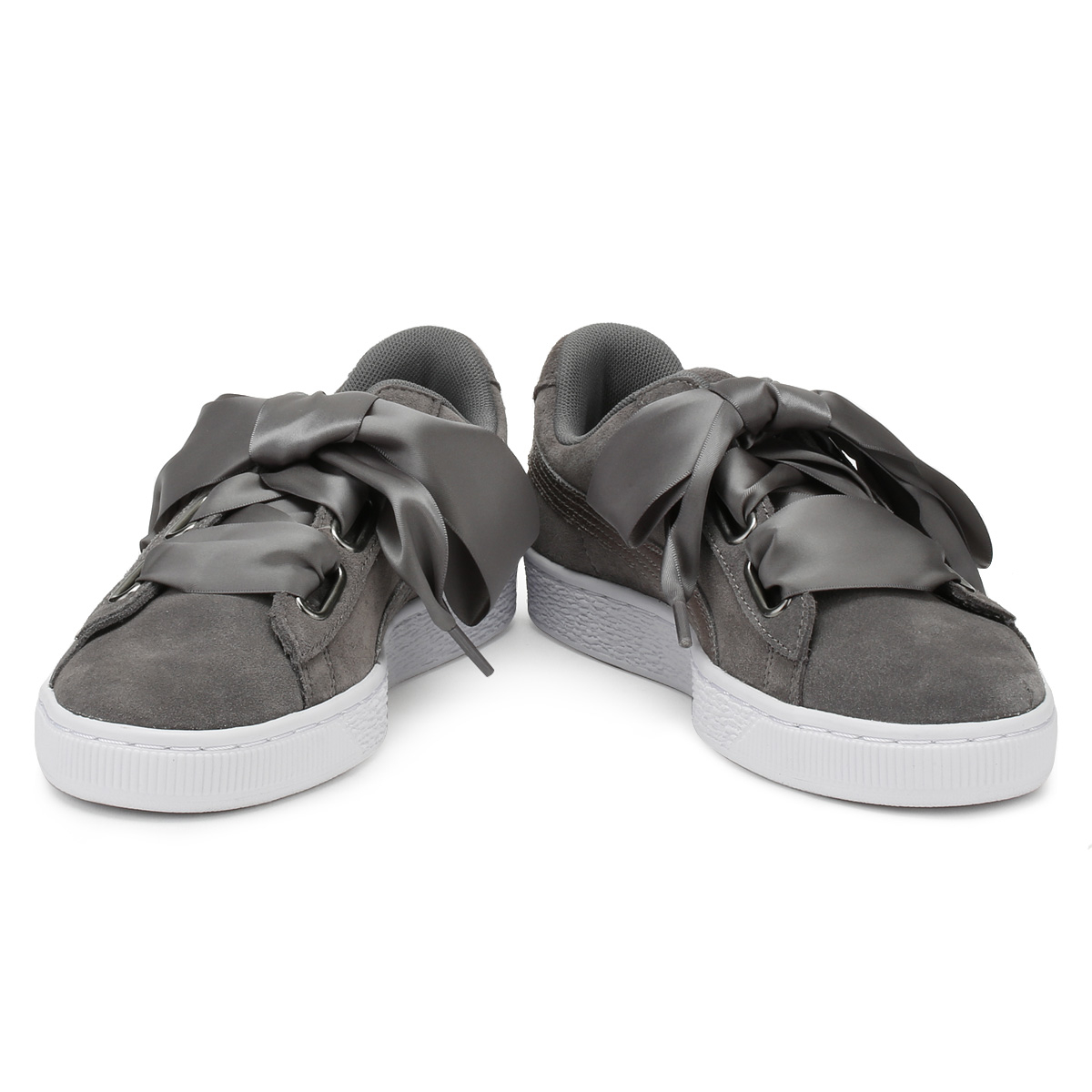 PUMA Womens Trainers Grey Pearl Heart Lunalux Suede Ladies Sport Casual  Shoes 07f85b250