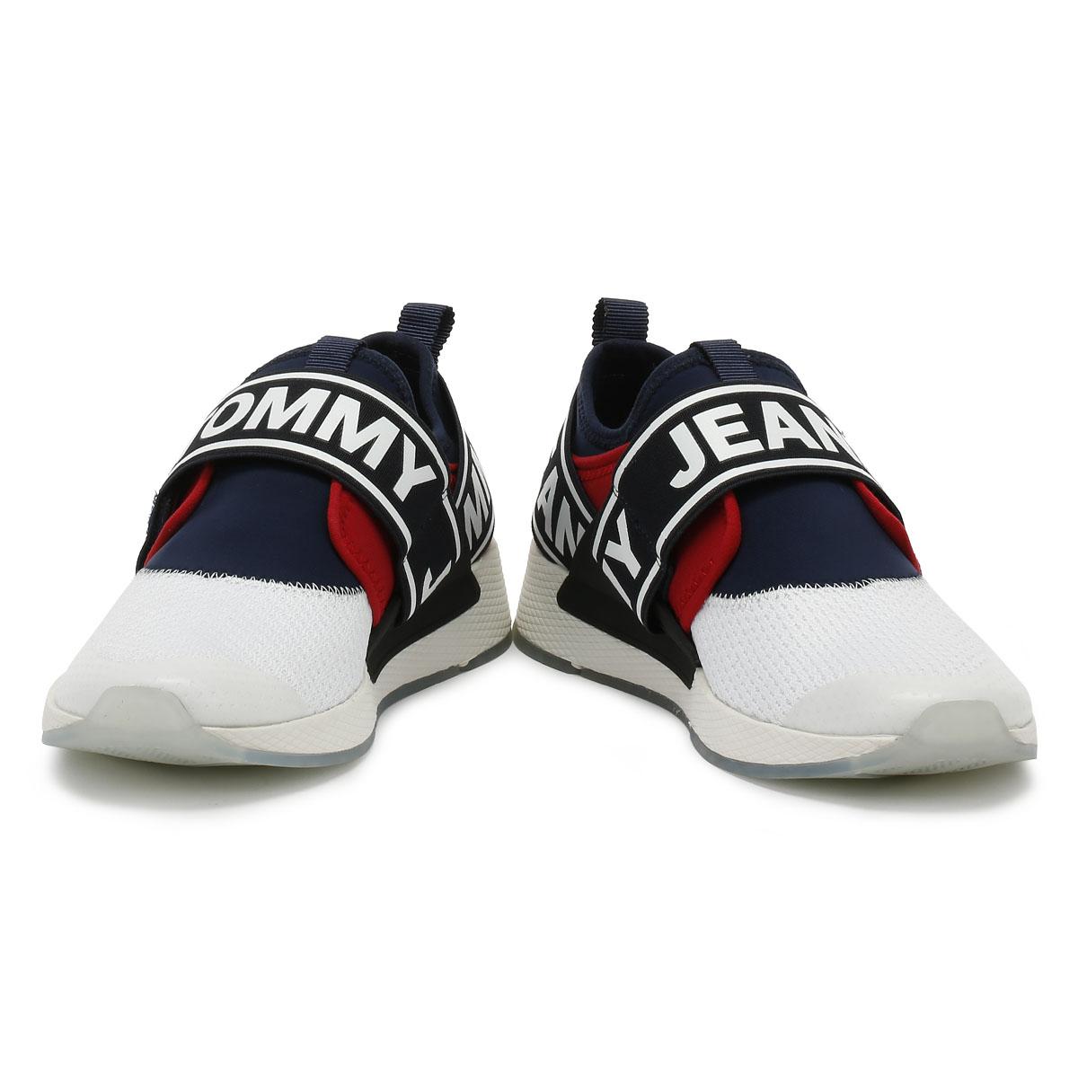6c8f7e16a972c Tommy Jeans Flexi Mens RWB Trainers Sport Casual Heel Loop Shoes